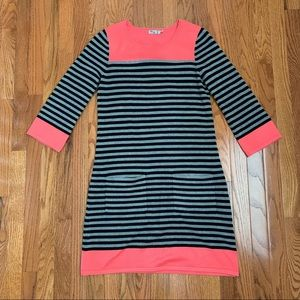 EUC Eliza J Pink, Black, and Gray Sweater Dress